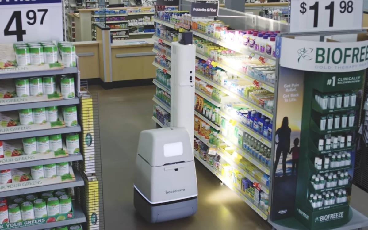 Rund 500 der Roboter von Bossa Nova prüften bisher das Inventar bei Walmart in den USA – künftig macht das wieder der Mensch (Foto: Screenshot)