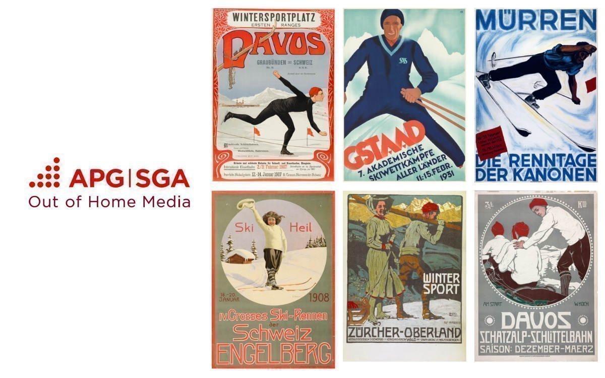 Nostalgie schadet nie – Die neue virtuelle Ausstellung der APG|SGA zeigt historische Plakate des Schweizer Wintersports (Foto: APG|SGA)
