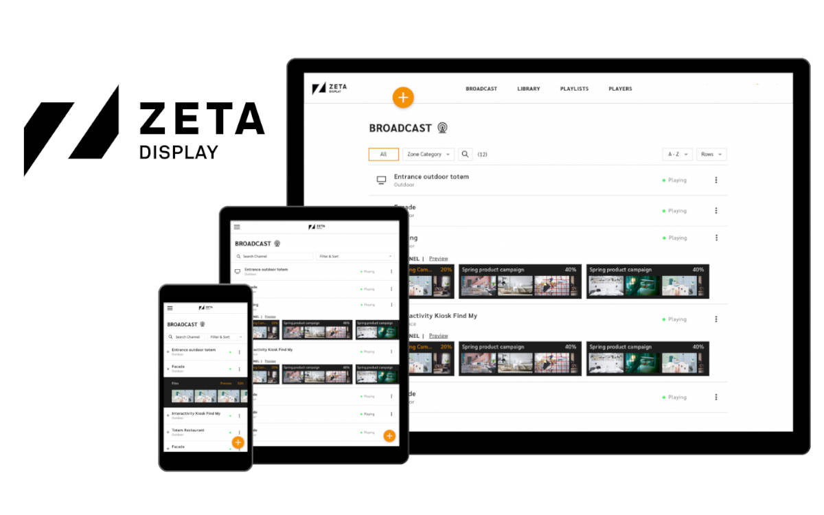 Cloudbasiert und mehr Funktionen – ZetaDisplay launcht die Next-Gen Version seines Digital Signage-CMS 'Engage' (Foto: ZetaDisplay)