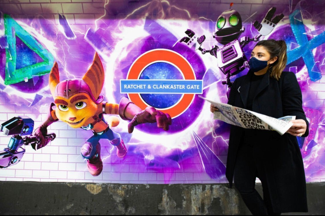 Neues Signage - Launch der Sony PS5 in London (Foto: Sony)