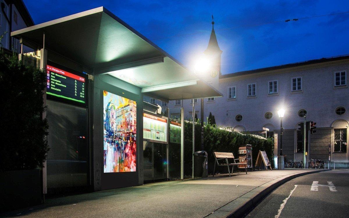 Digitale Citylights von Epadmedia in Salzburg (Foto: Epamedia)