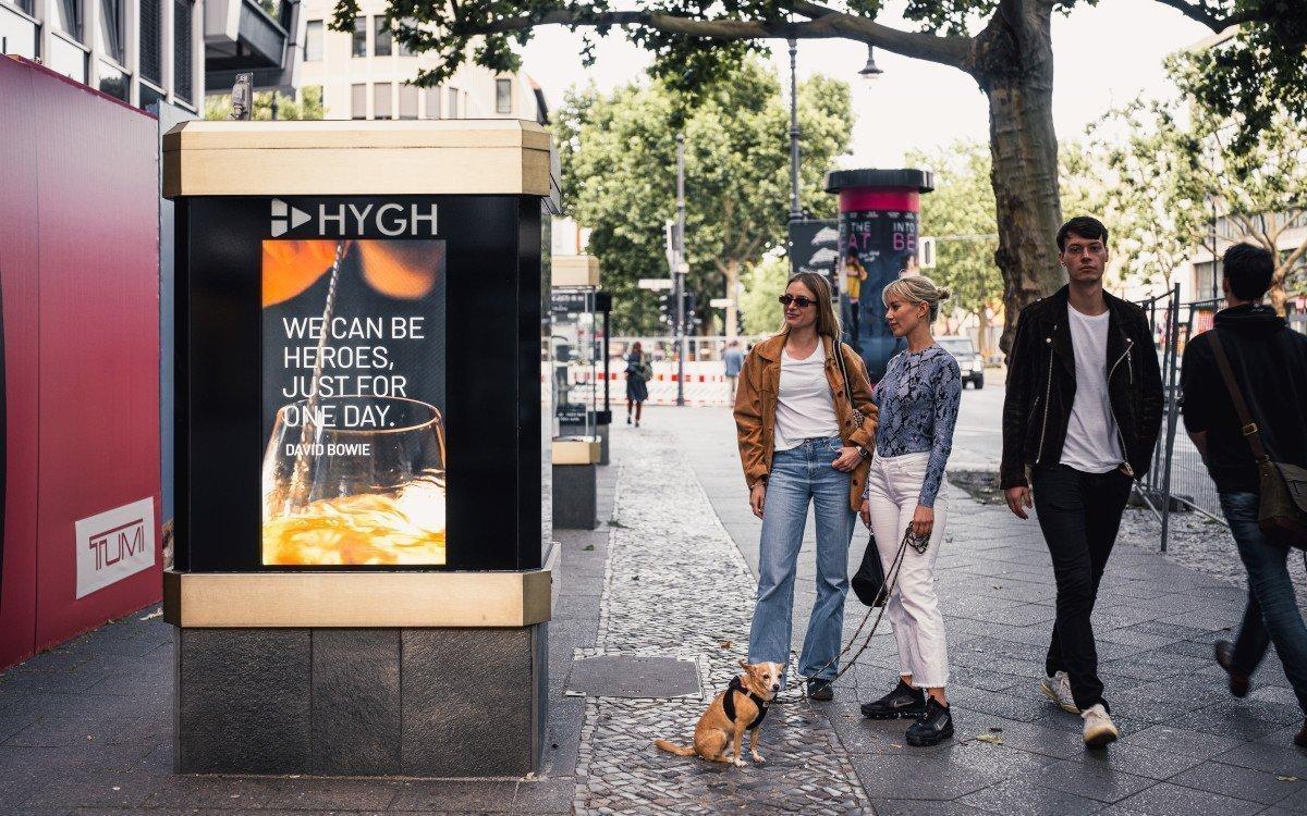Hygh Displays auf dem Kudamm in Berlin (Foto: Hygh)