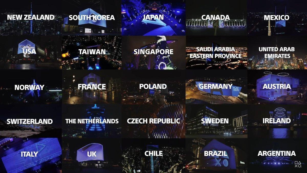 Sony PS5 Launch weltweit auf bekannten Wahrzeichen (Foto: Screenshot)