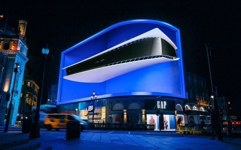 Sony PS5 Launch mit Forced Perspective am Piccadilly Circus (Foto: Ocean Outdoor)