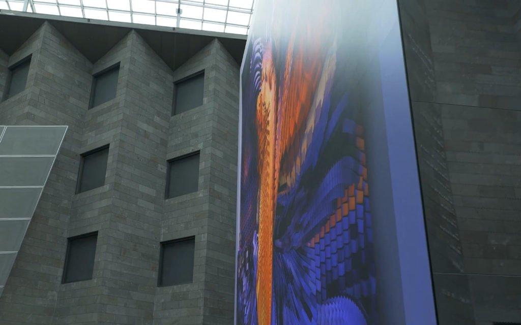 Refik Anadol neuste Installation Quantum Memories (Foto: Screenshot)