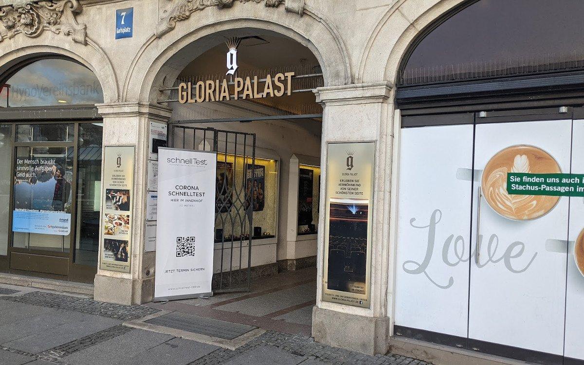 Corona-Test im Cinema - Gloria Palast in München (Foto: invidis)
