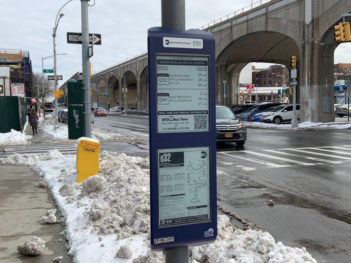 GDS ePaper Abfahrtstafel in NYC (Foto: GDS)