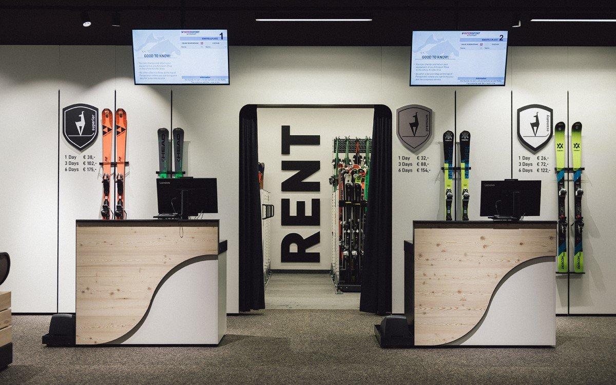 DIgitaler Skiverleih bei Intersport Kitzsport in Kitzbühel mit Lösungen von Peakmedia (Foto: Peakmedia)