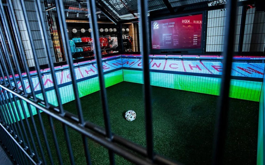 "Gamification im ""Test Cage"" (Foto: FC Bayern)"