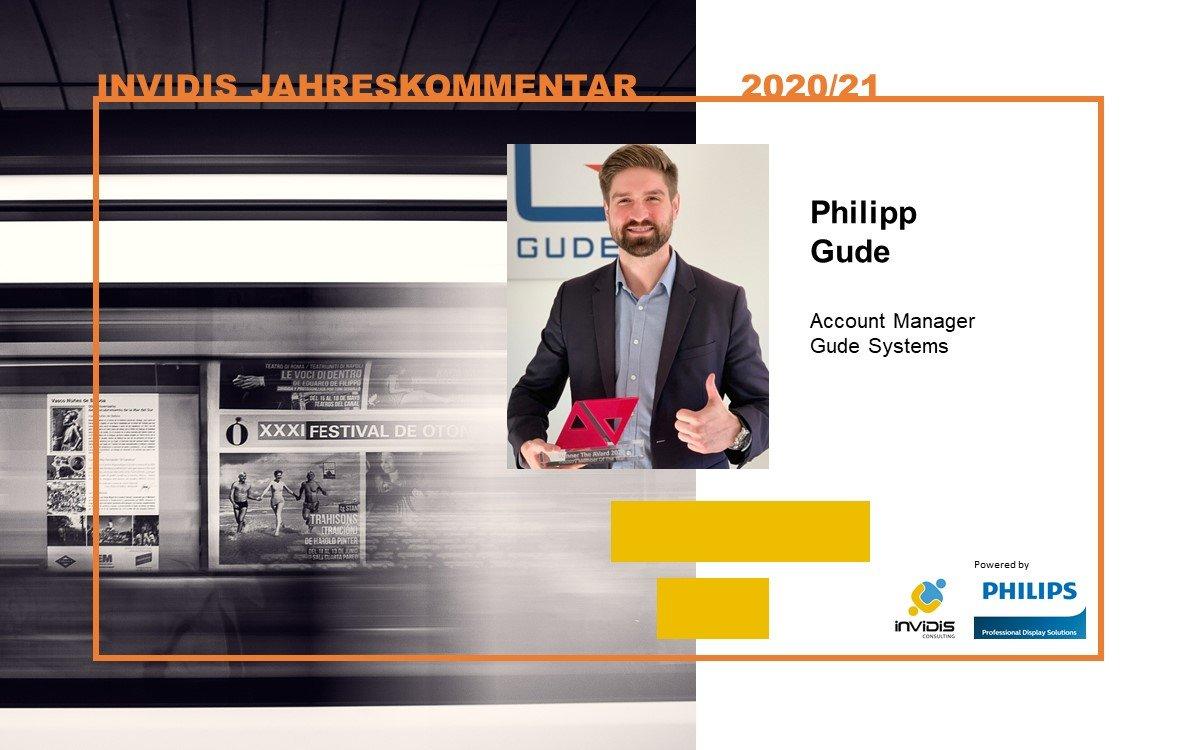 Philipp Gude von Gude Systems im invidis Jahreskommentar 2020|2021 (Foto: Gude Systems)