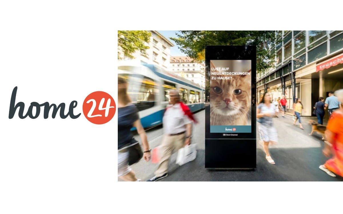 Eine erfolgreiche programmatische DooH-Kampagne beschert home24 einen ROAS von 800% (Foto: home24)