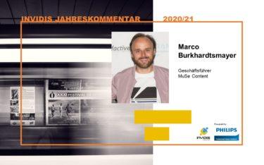 MuSe Content Geschäftsführer Marco Burkhardtsmayer im invidis Jahreskommentar 2020 21 (Foto: MuSe Content)