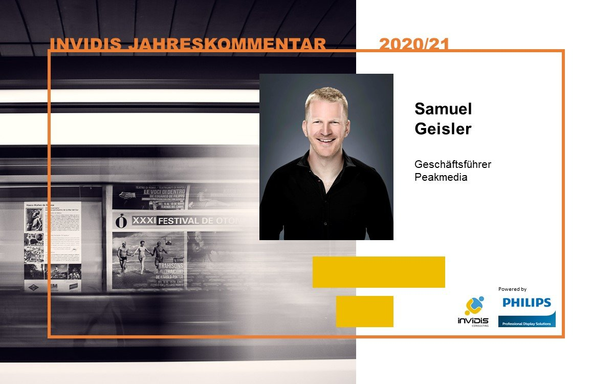 Peakmedia-Geschäftsführer Samuel Geisler im invidis Jahreskommentar 2020|2021 (Foto: Peakmedia)