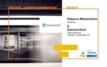Rebecca Mückenheim & Dominik Kerd von Pilkington Deutschland im invidis Jahreskommentar 2020 2021 (Foto: Pilkington)