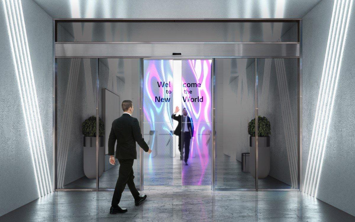 LG und Assa Abloy arbeiten an transparenten OLED-Türen (Foto: LG Electronics)