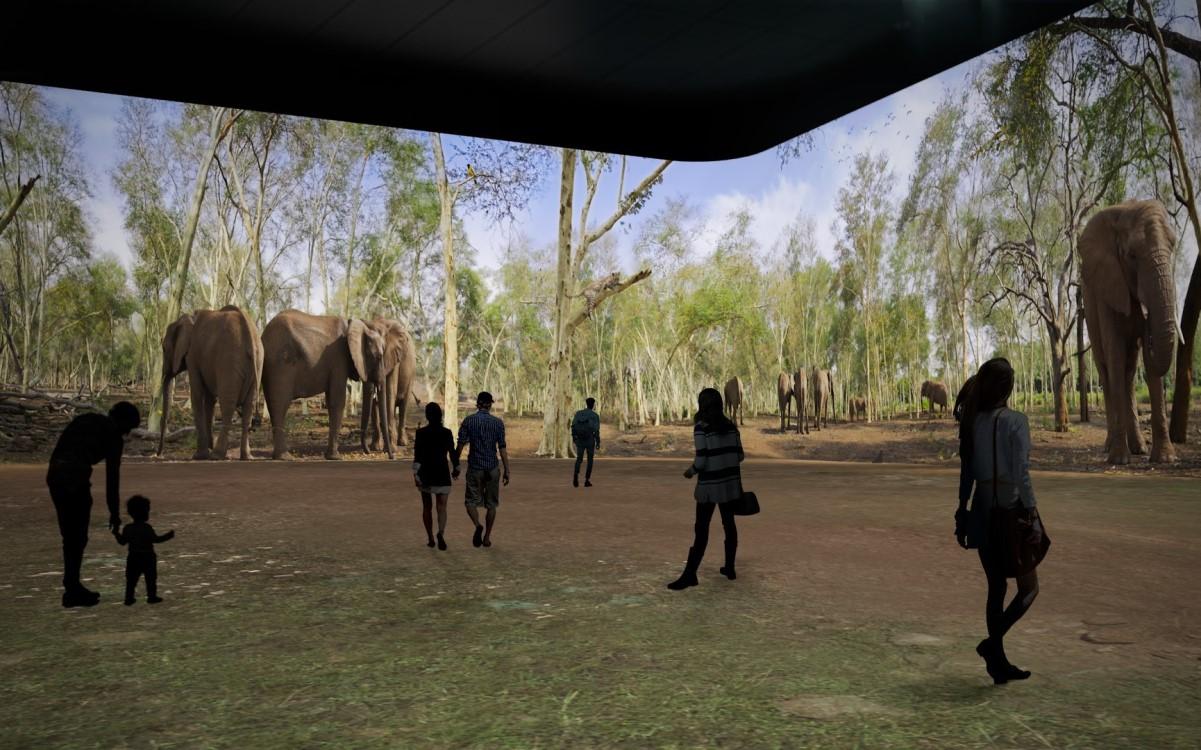 Digitale Safari: in den Illuminarium Eventcentern versetzt Projektionstechnologie von Panasonic Besucher virtuell in eine andere Welt (Foto: Panasonic)