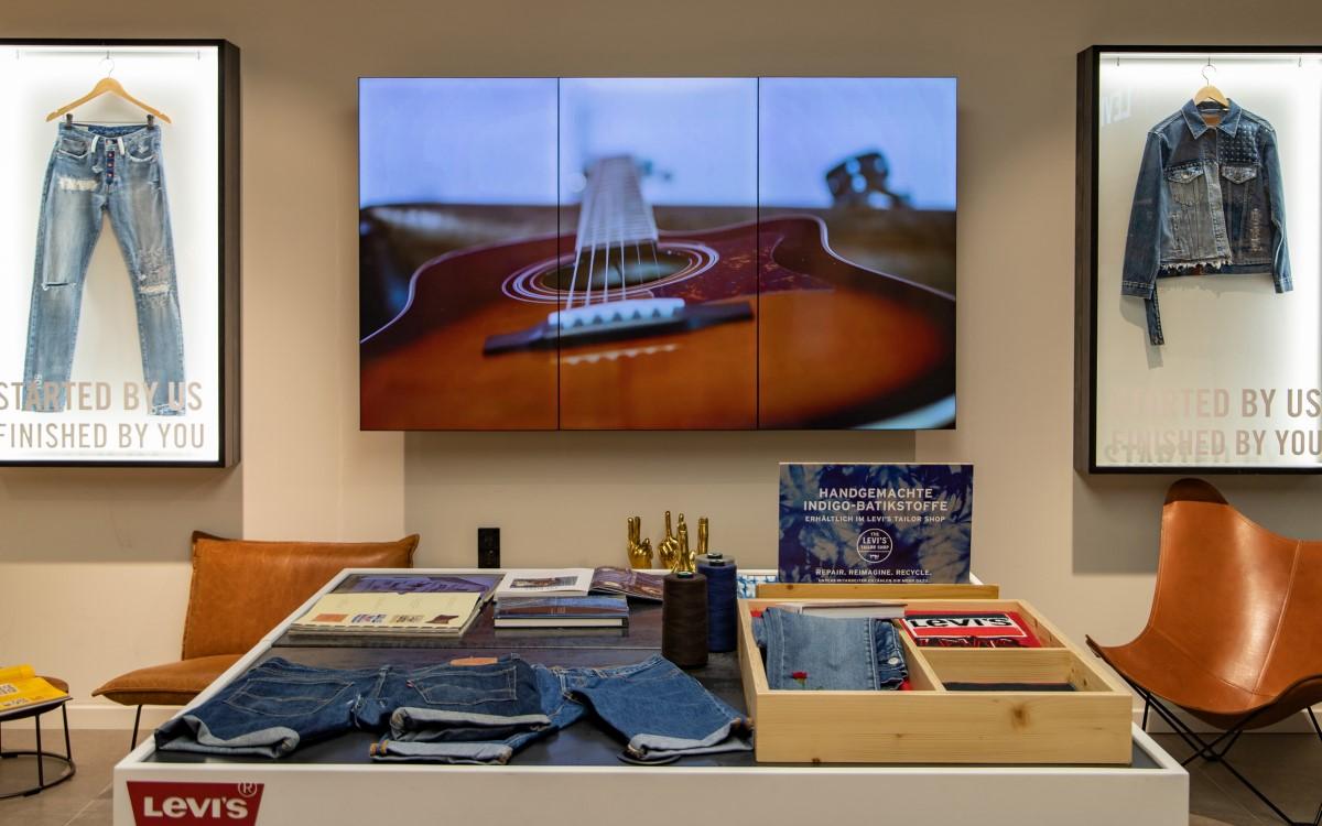 Installation inklusive Prozess-Programmierung von 4Dmagic für die Marke Levi's (Foto: 4Dmagic)