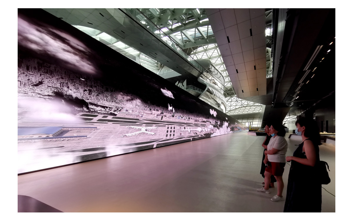 72m LED der Shenzen Urban Planning Exhibition (Foto: Unilumin)