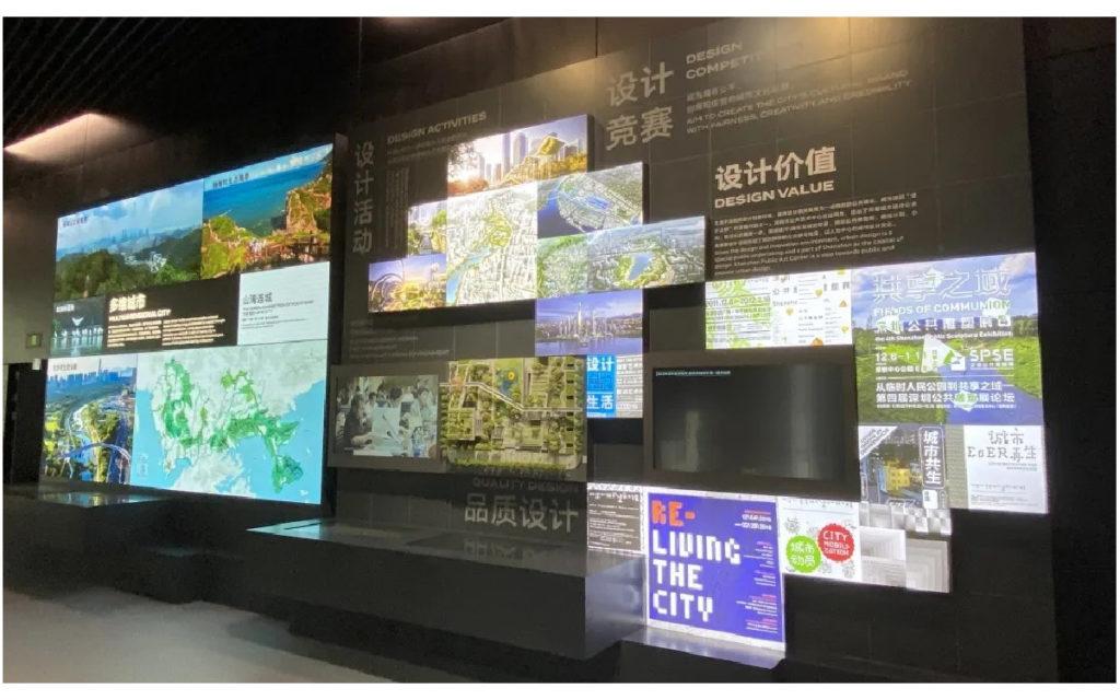 LED und Displays in der Shenzen Urban Planning Exhibition (Foto: Unilumin)