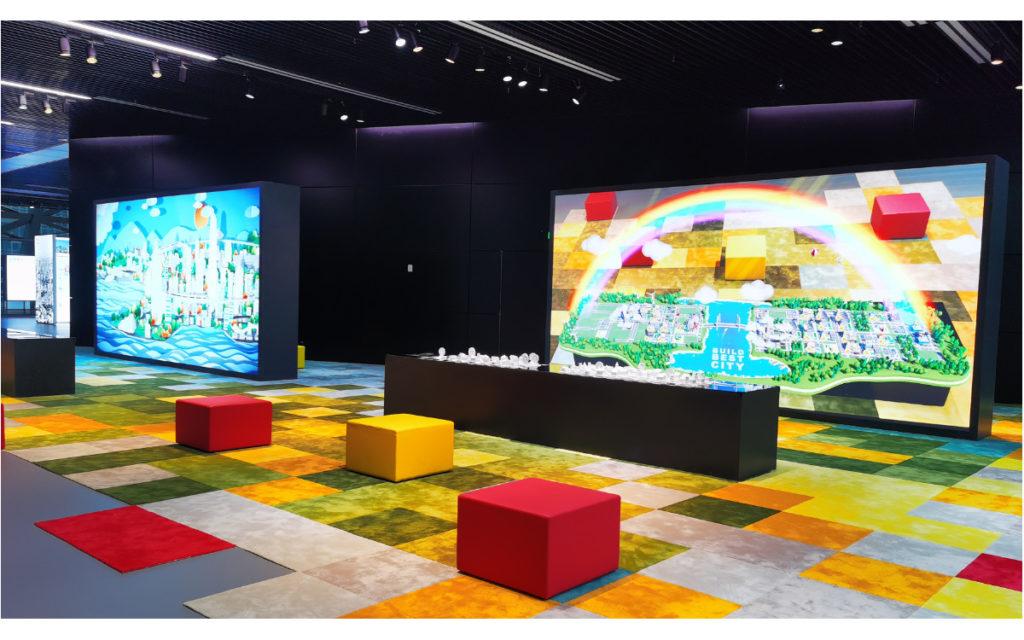 Digitales Lernen in der Shenzen Urban Planning Exhibition (Foto: Unilumin)
