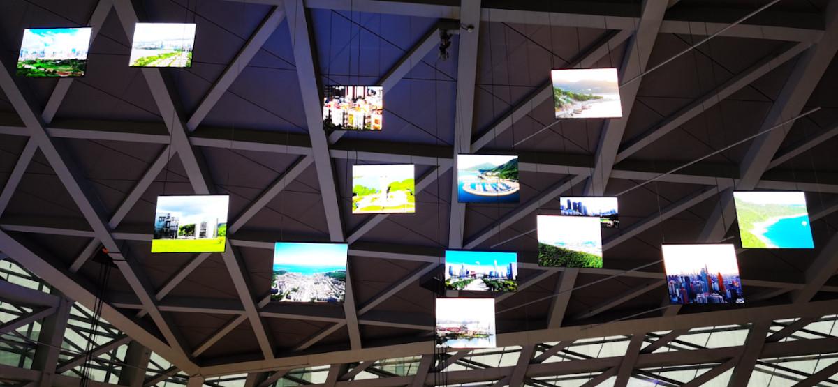 Verfahrbare Screens in der Shenzen Urban Planning Exhibition (Foto: Unilumin)