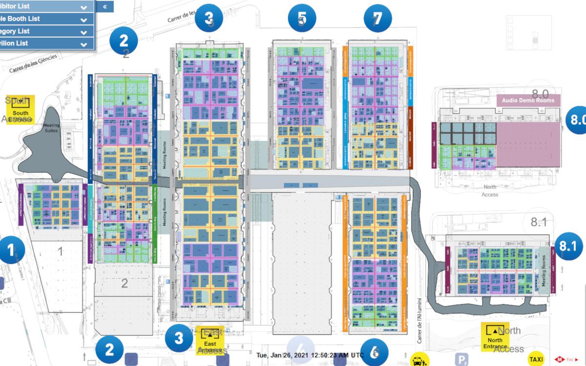 ISE Floorplan 2021 - 75% der Vorjahresaussteller sind dabei (Foto: ISE)