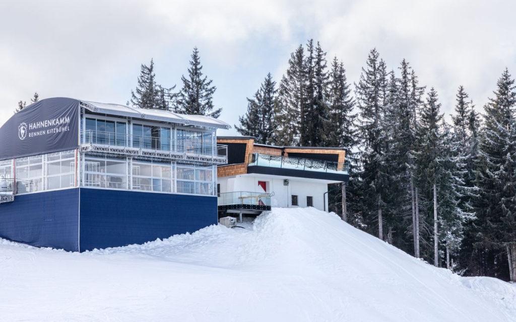 Starthaus der Streif und Red Bull Zelt (Kitzbühel Ski Club))