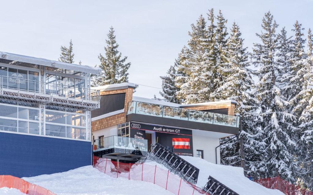 Starthaus der Streif mit LED (Kitzbühel Ski Club)