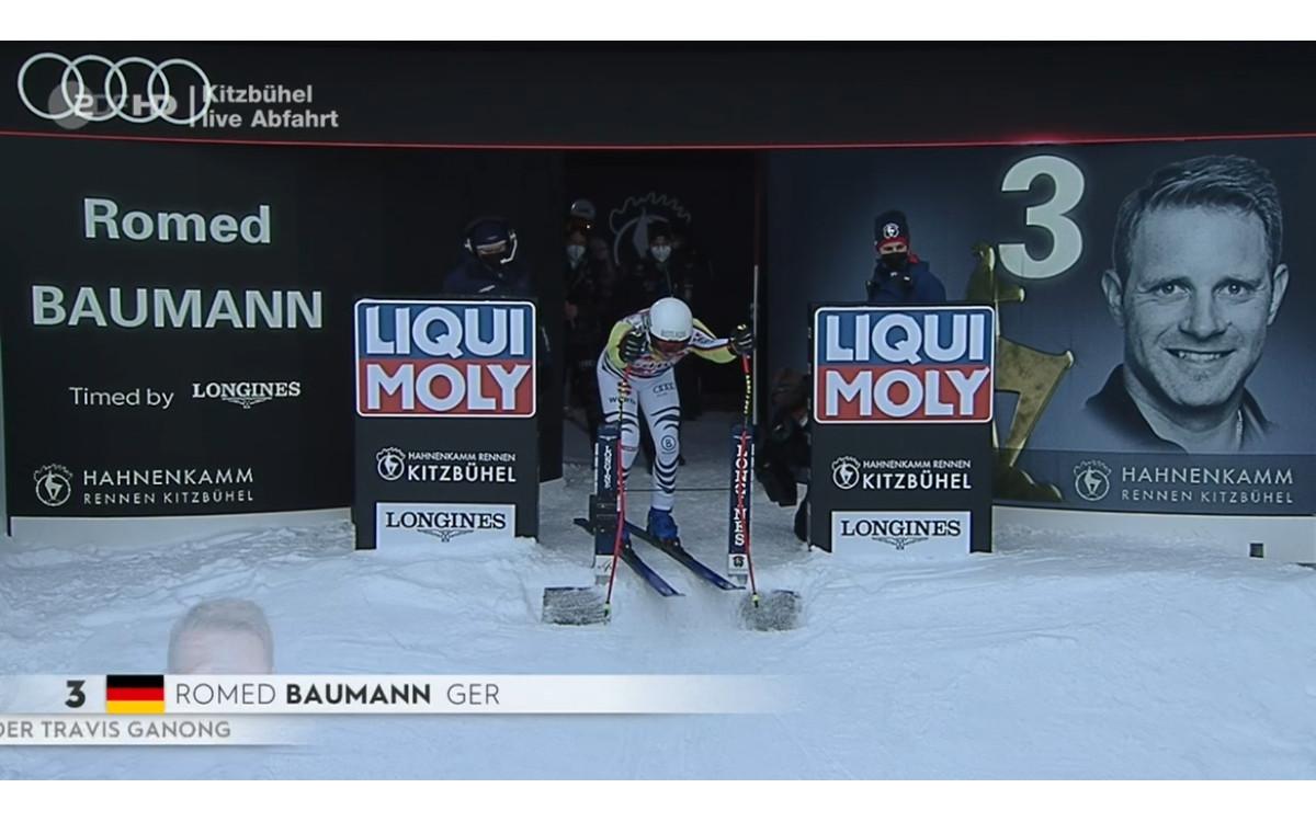 Starthaus der Streif mit LED im Rennen (Screenshot ZDF)