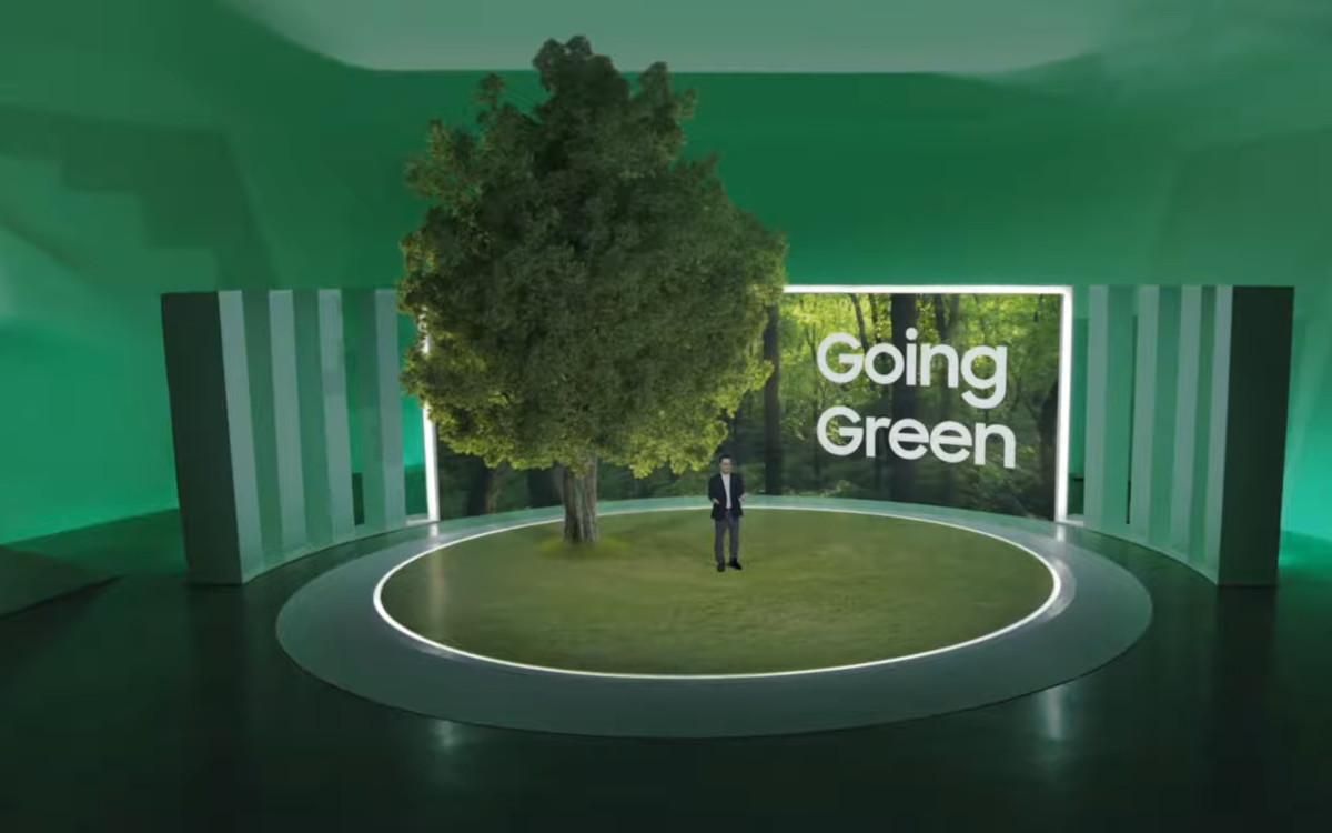 Going Green bei Samsung (Foto: Screenshot)