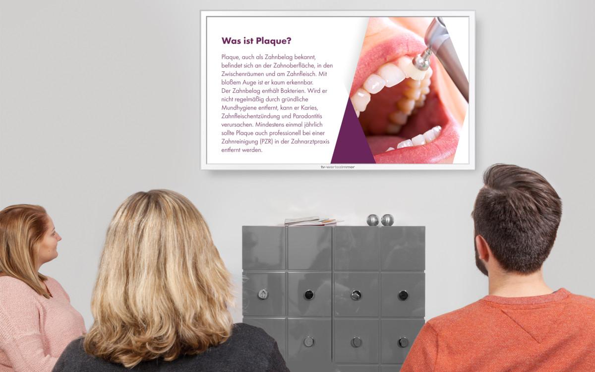 Zahngesundheitskampagne bei TV Wartezimmer (Foto: TV Wartezimmer)