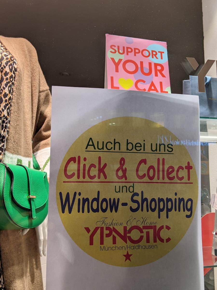 Window Shopping im Lockdown in München-Haidhausen (Foto: invidis)