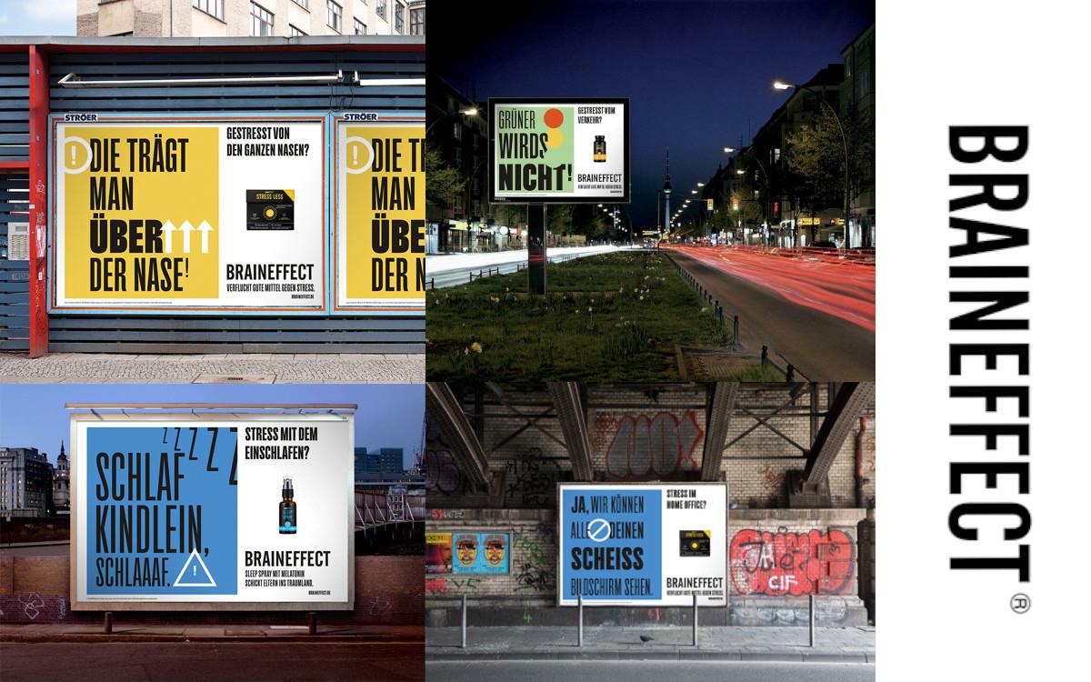 Gegenmittel gegen Alltagsstress – Braineffect wirbt in Berlin, Hamburg und München auf OoH (Foto: R/GA / Braineffect)