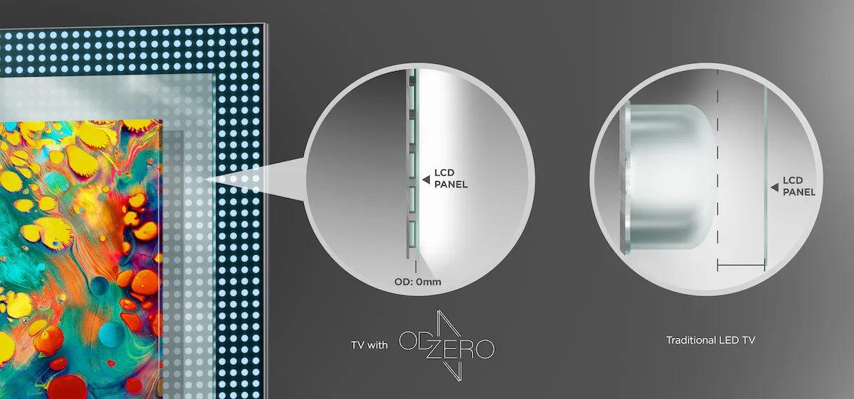 TCLs OD Zero Technologie sorgt für gleichmäßigere Helligkeit (Foto: TCL)