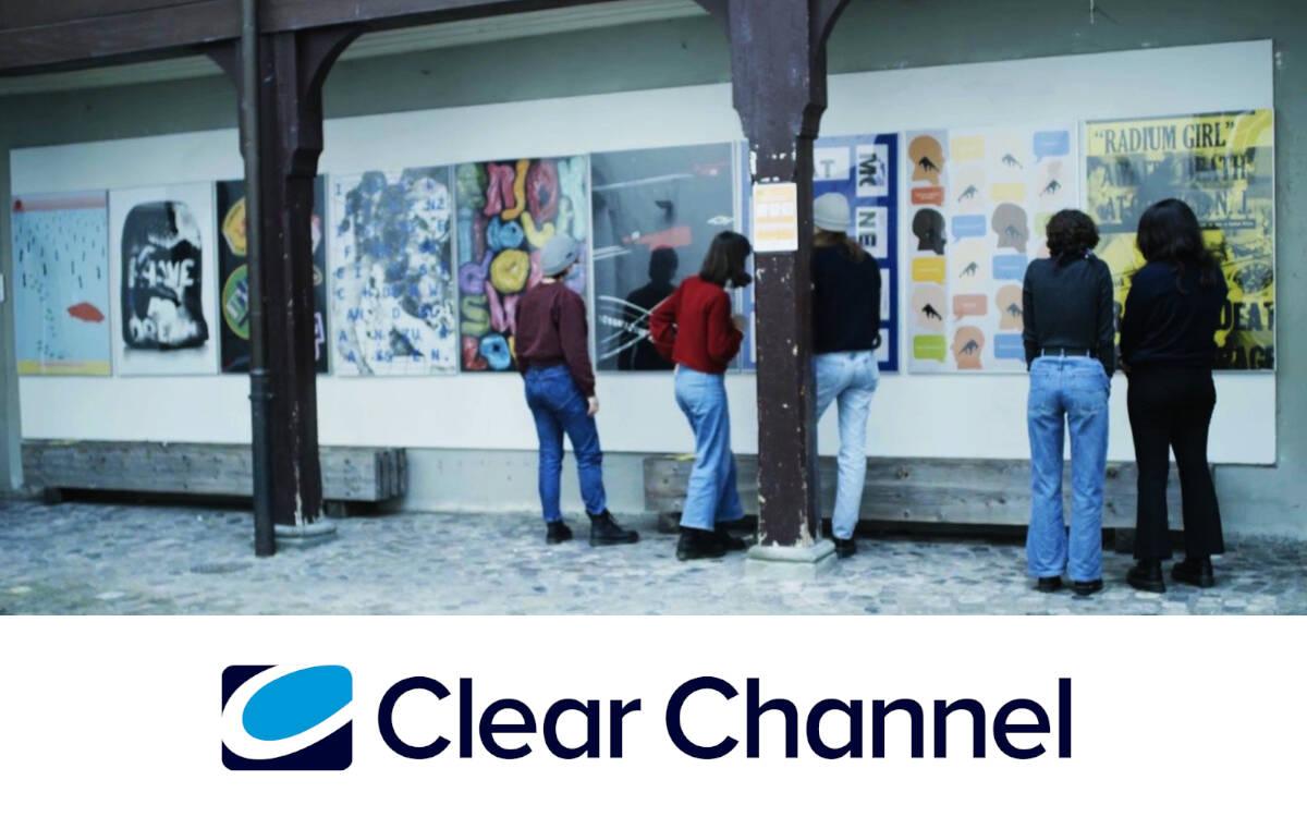 """Clear Channel unterstützt als Partner das Projekt """"Blickwechsel"""" der Fachklasse Grafik Luzern (Foto: Clear Channel)"""