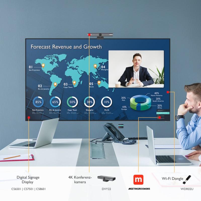 Die Displays der CS-Serie bietet BenQ zum Launch im Videokonferenz-Bundle (Foto: BenQ)