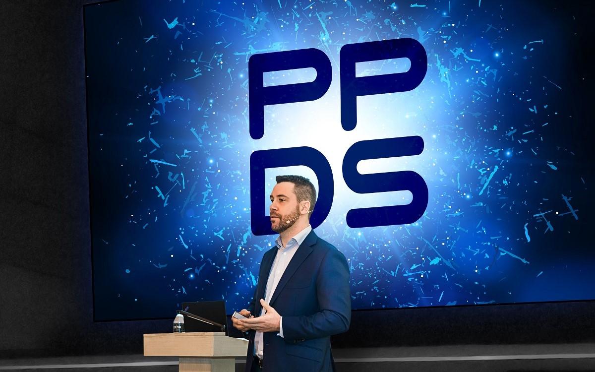 PPDS Vizepräsident Franck Racape bei der Präsentation des neuen Brandings (Foto: PPDS)