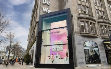 Entdeckt auf invidisXworld-Tour durch Berlin: LED-Wall von 4Dmagic am KaDeWe (Foto: 4DMagic)