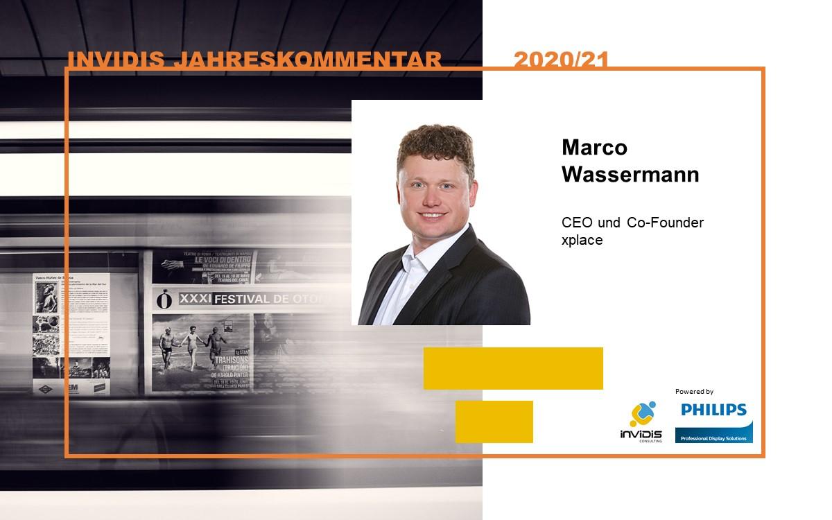 Marco Wassermann, CEO und Co-Founder von Systemintegrator xplace, im invidis Jahreskommentar 2020|2021 (Foto: xplace)