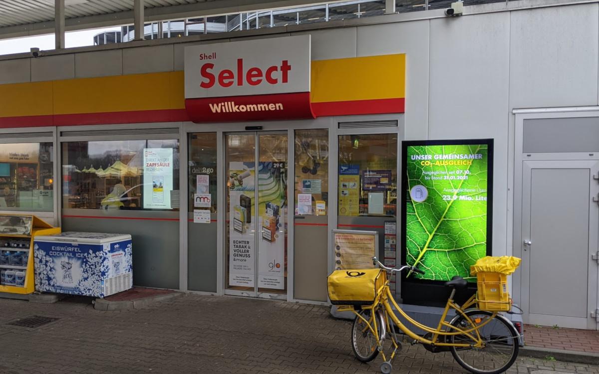 Shell rüstet auf - Tankstelle Flughafen Düsseldorf (Foto: invidis)