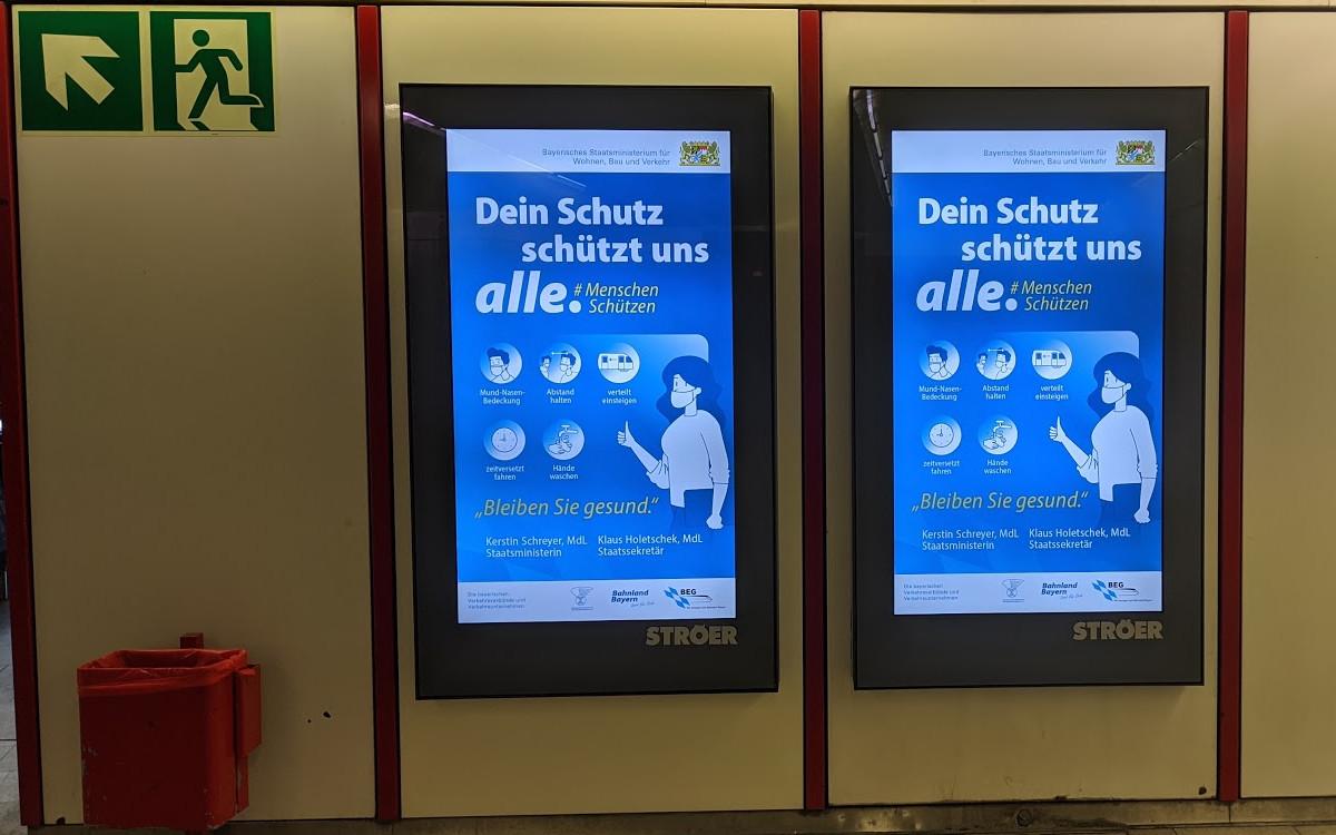 DooH ist mehr als nur Werbeplattform - Hinweise der Bay. Staatregierung (Foto: invidis)