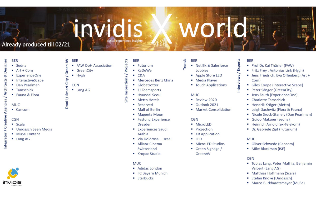 invidisXworld - Digital Signage in Bewegtbild (Foto: invidis)