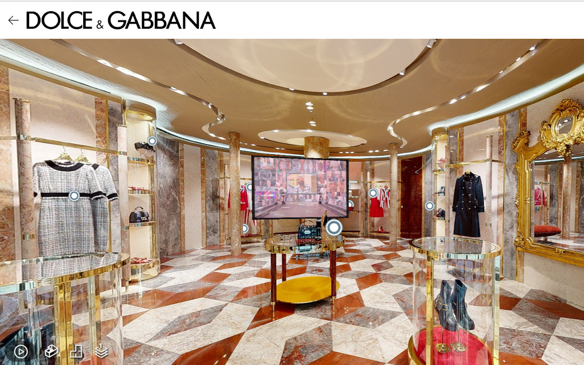 Dolce & Gabbana Boutique Paris Faubourg (Fot: Screenshot)
