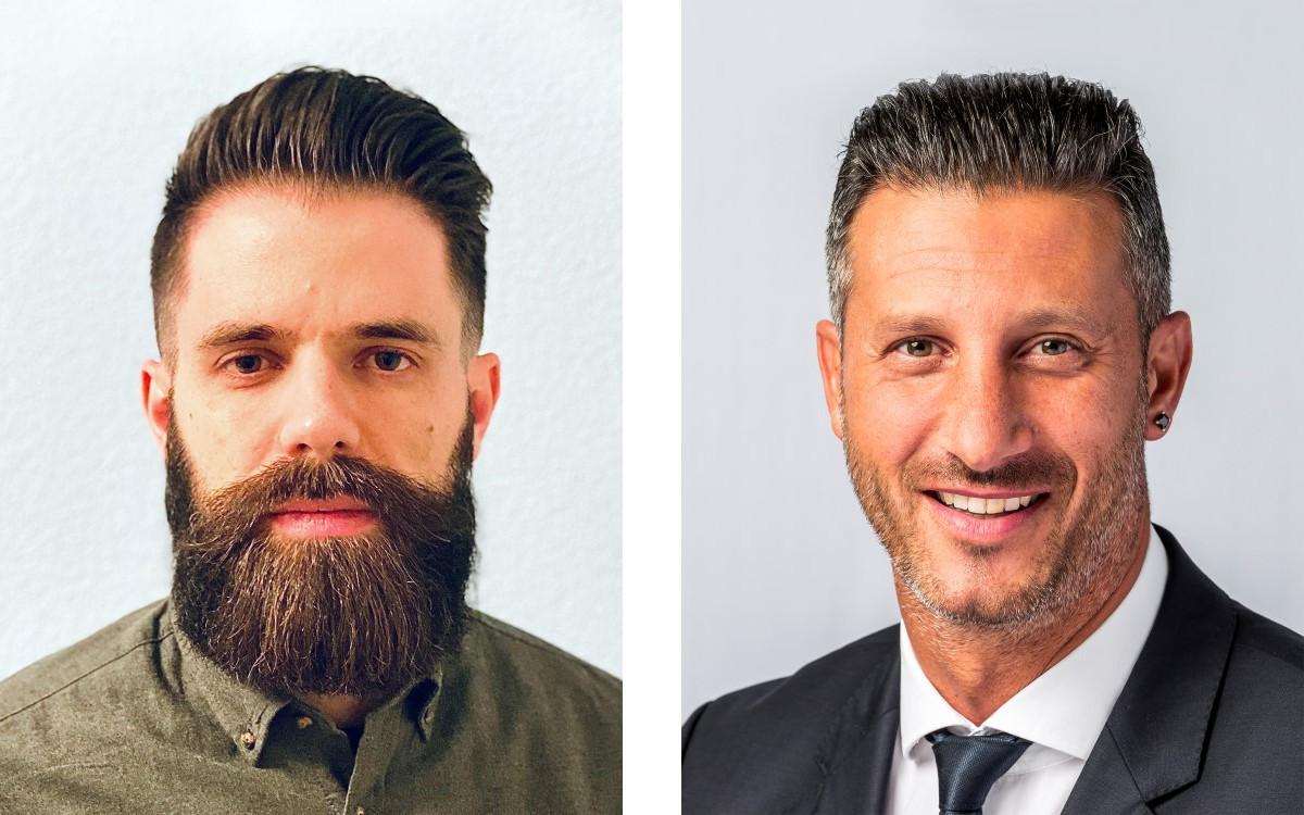 Marc Eberhart (l.) und Enzo Meo starten als Key Account Manager bei APG|SGA in Zürich und Bern (Foto: APGSGA)