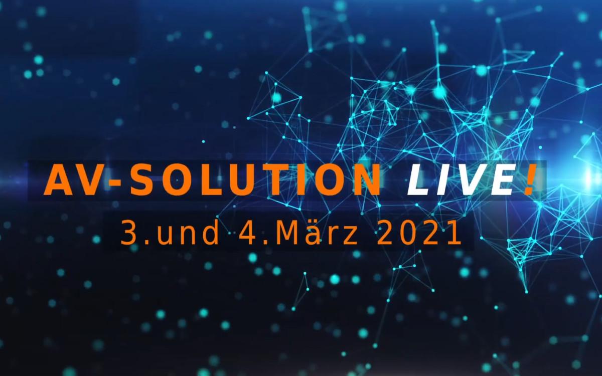 """Verband Av-Solution Partner lädt zum zweitätigen Event """"AV-Solution LIVE"""" im März (Foto: Screenshot)"""