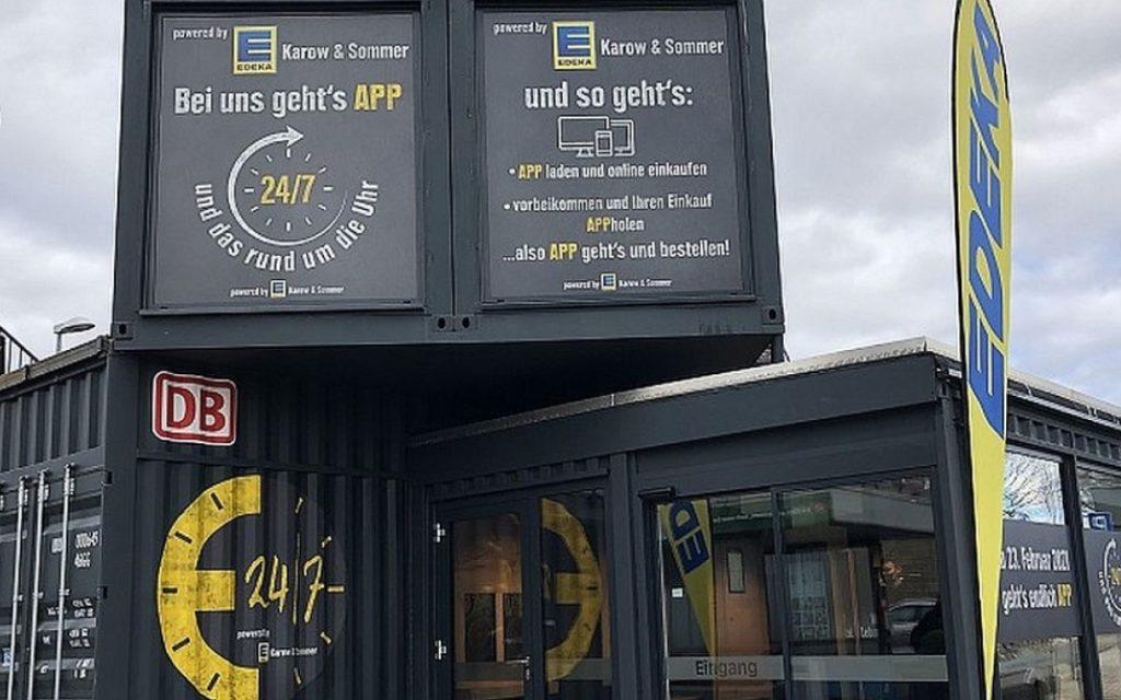 Der automatisierte Mini-Supermarkt von Edeka und DB in Renningen mit Technik von Start-up Smark (Foto: Deutsche Bahn)
