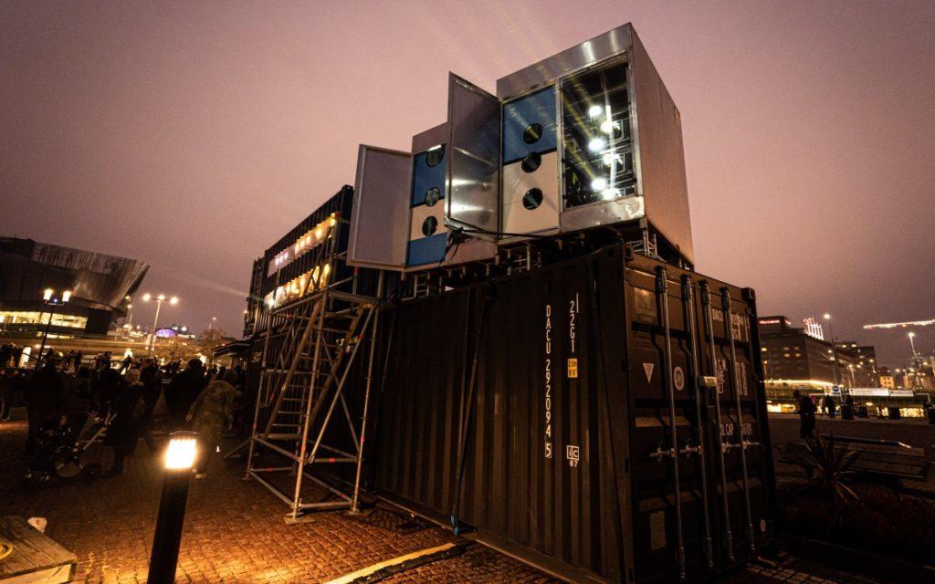 Die Technik hinter der SPACE-Installation von Panasonic und Creative Technology (Foto: Creative Technology)