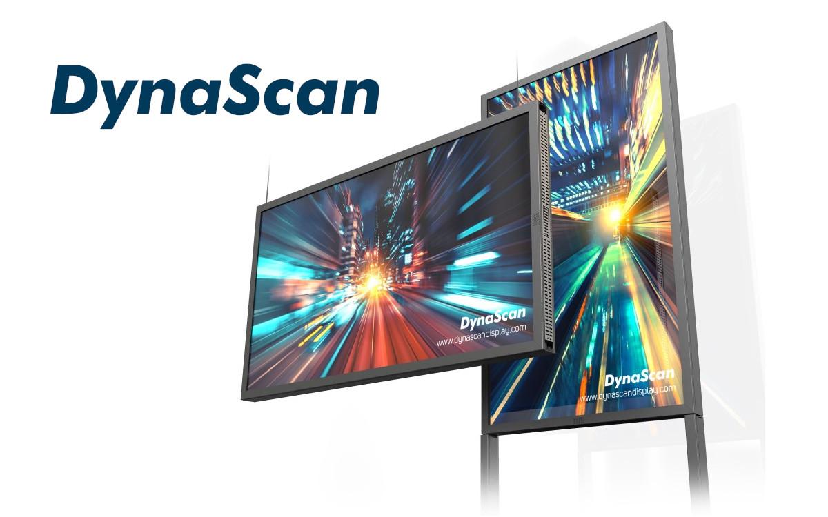 Das doppelseitige DW551DR4 Display ist die superhelle AiO-Lösung von DynaScan für lichtintensive Schaufenster (Foto: DynaScan)