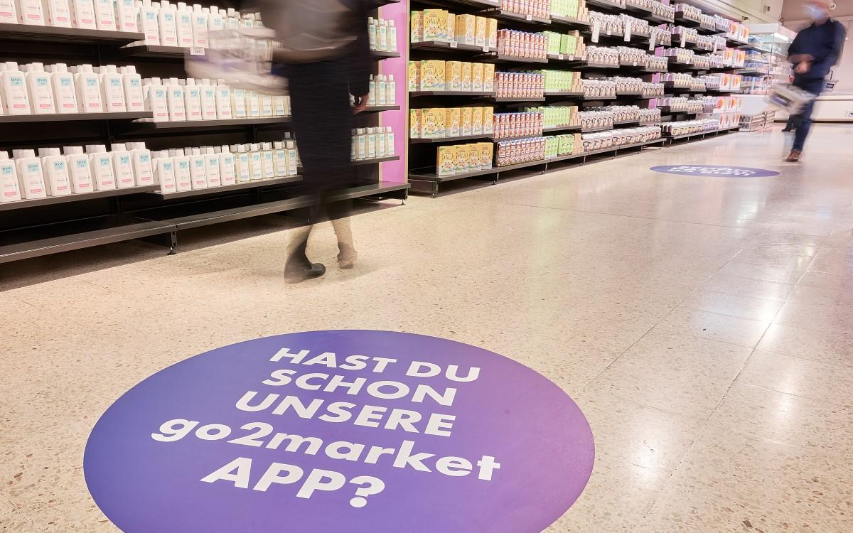 Die von Umdasch designte Retailfläche des go2market wartet mit modernen Retail-Lösungen auf (Foto: Günther Zipfelmayer für go2market)