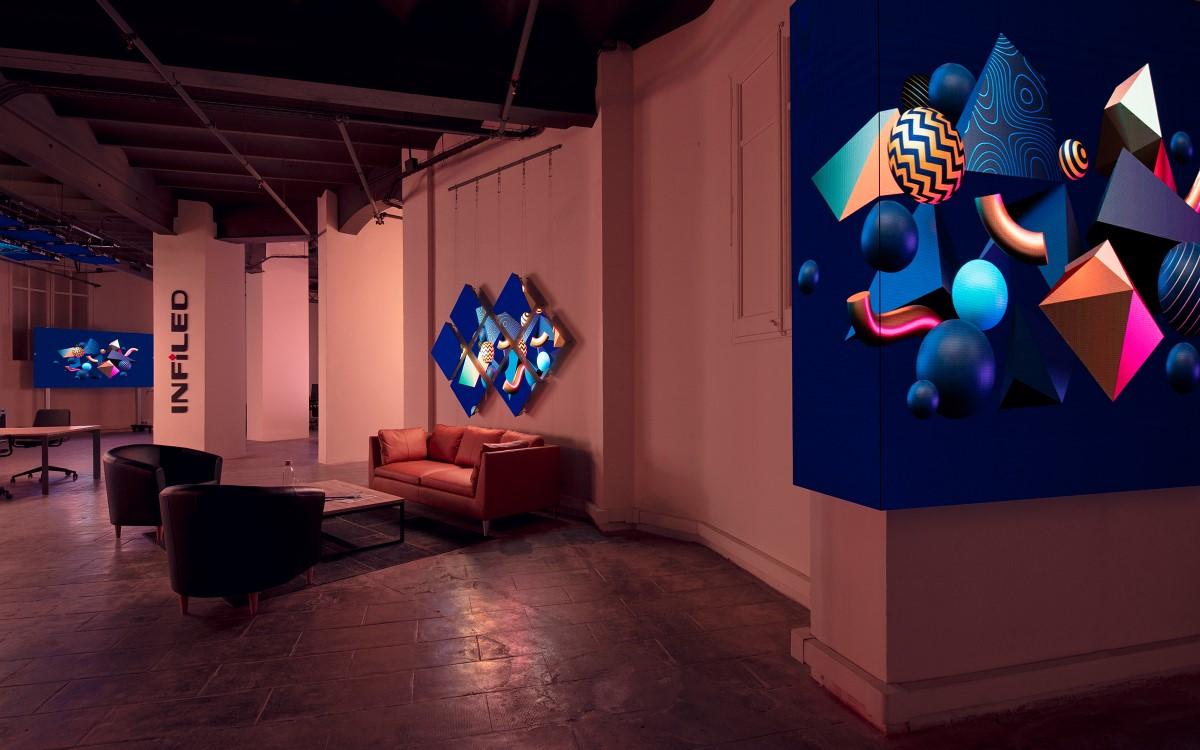 Der INFiLED Showroom und Zugleich die EMEA-Zentrale des chinesischen LED-Herstellers in Barcelona (Foto: INFiLED)
